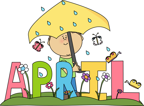 April Calendar Clipart : April
